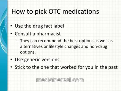 Safety recommendations of how to buy and take non-prescription drugs!